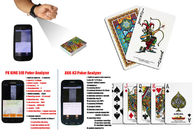 Angel Plastic Professional Poker Cards Barcode Marked Poker Cards For Analyer