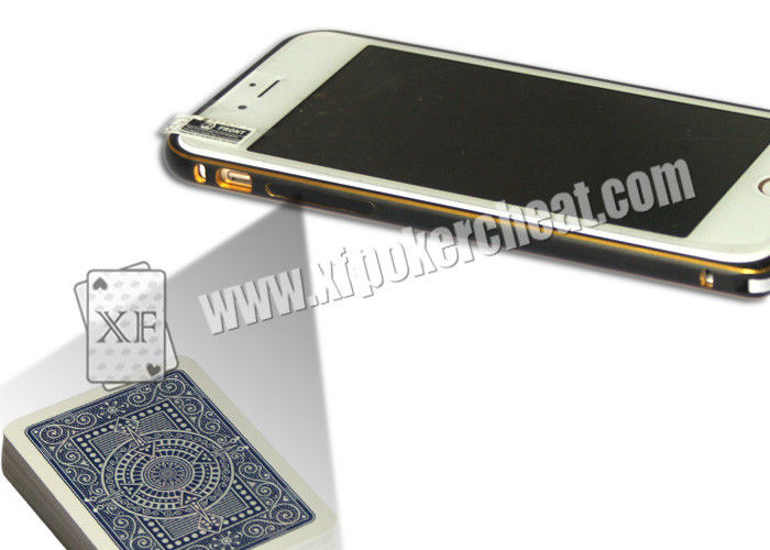 Golden Color Iphone 6 Mobile Phone Camera Used In Private Cards Game