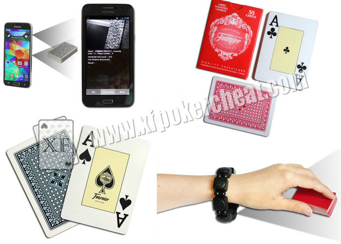 Spain Fournieer 55 Cartes Barcode Marked Poker Cards Invisible Poker Size For Poker Scanner