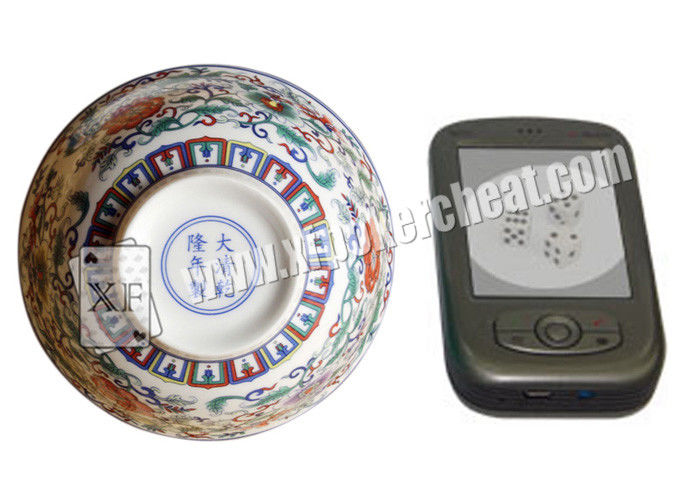 Perspective Ceramic Casino Magic Dice Bowl With Video Phone See