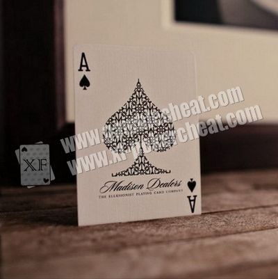 Invisible Madison Dealers Luxury Paper Playing Cards Marked With Ink For Precision Lenses
