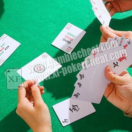 Black And White PVC Paper Mahjong Invisible Playing Cards For Poker Analyzer