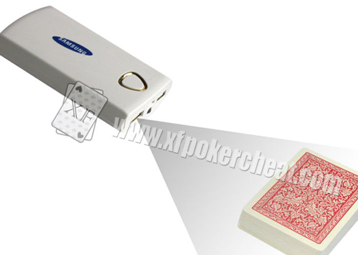 Portable White Poker Scanner , Samsung Mobile Power Bank Spy Camera