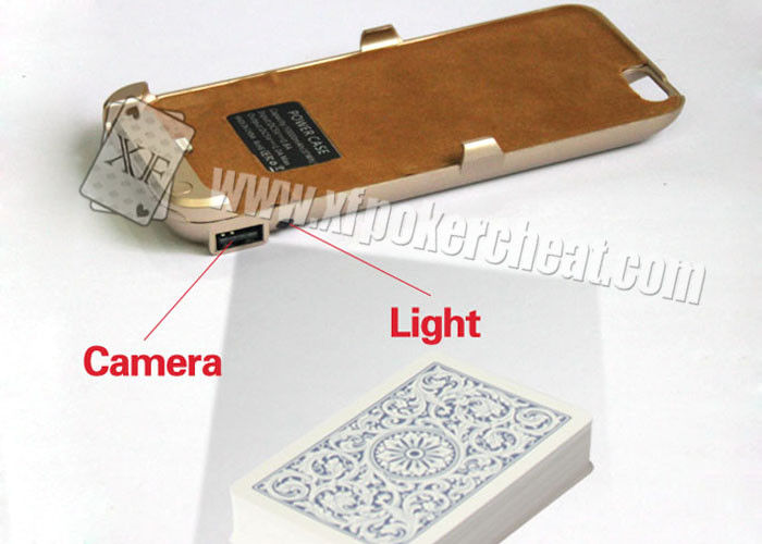 Iphone 6 Golden Plastic Charger Case Poker Scanner With Micro Camera