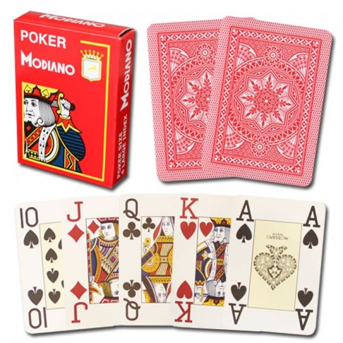 Professional Plastic Gambling Tools Modiano Cristallo 4 PIP Playing Cards