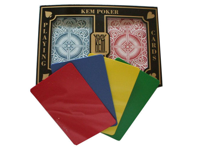 Regular Index Poker Gambling Props , KEM Arrow Plastic Playing Cards
