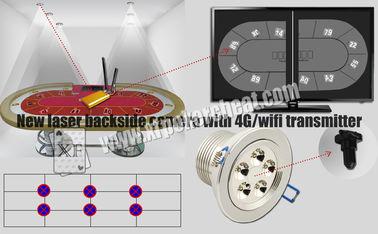 أضواء بيضاء الليزر الجانب الخلفي بطاقة الماسح الضوئي كاميرا اللعب مع 4G اللاسلكية الارسال
